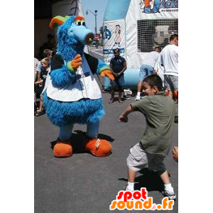 Mascot blue monster, cute and hairy - MASFR22117 - Monsters mascots