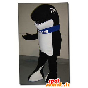 Black and white orca maskot - Mascot Willie