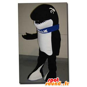 Preto e branco mascote orca - mascote Willie