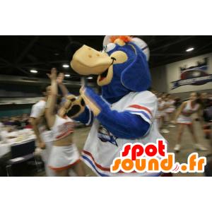 Mascot man blauw, beige en oranje - MASFR22128 - Niet-ingedeelde Mascottes