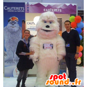 Mascot Valkoinen Yeti, lumimies - MASFR22158 - Mascottes Homme