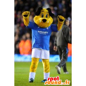 Maskot gul og svart hund i sportsklær - MASFR22169 - Dog Maskoter