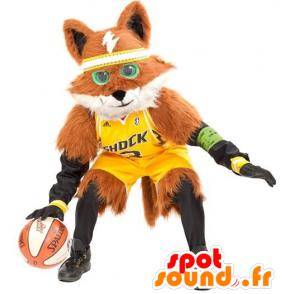 Mascot orange and white fox, all hairy - MASFR22187 - Mascots Fox