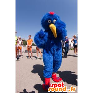Funny mascot, blue bird with a long yellow beak - MASFR22222 - Mascot of birds