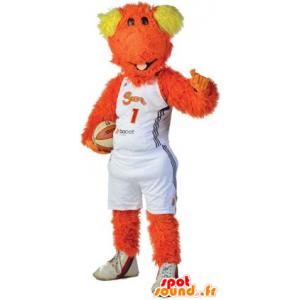 Hund Maskottchen, orange und gelbe Kerl - MASFR22232 - Hund-Maskottchen