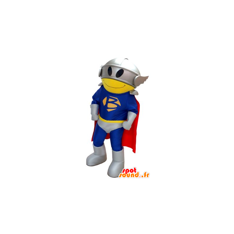 Superhero mascot, with a suit, a cape and a helmet - MASFR22240 - Superhero mascot