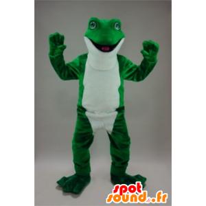 Mascot Frosch grün und weiß, sehr realistisch - MASFR22243 - Maskottchen-Frosch