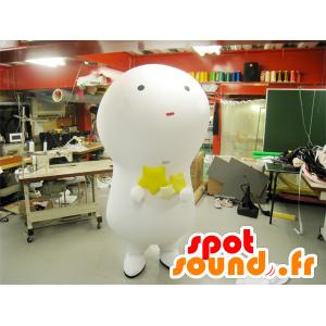 Big white snowman mascot, giant bulb - MASFR22246 - Mascots bulb