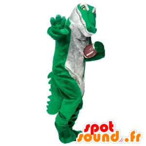Mascot green and gray crocodile, realistic - MASFR22265 - Mascot of crocodiles