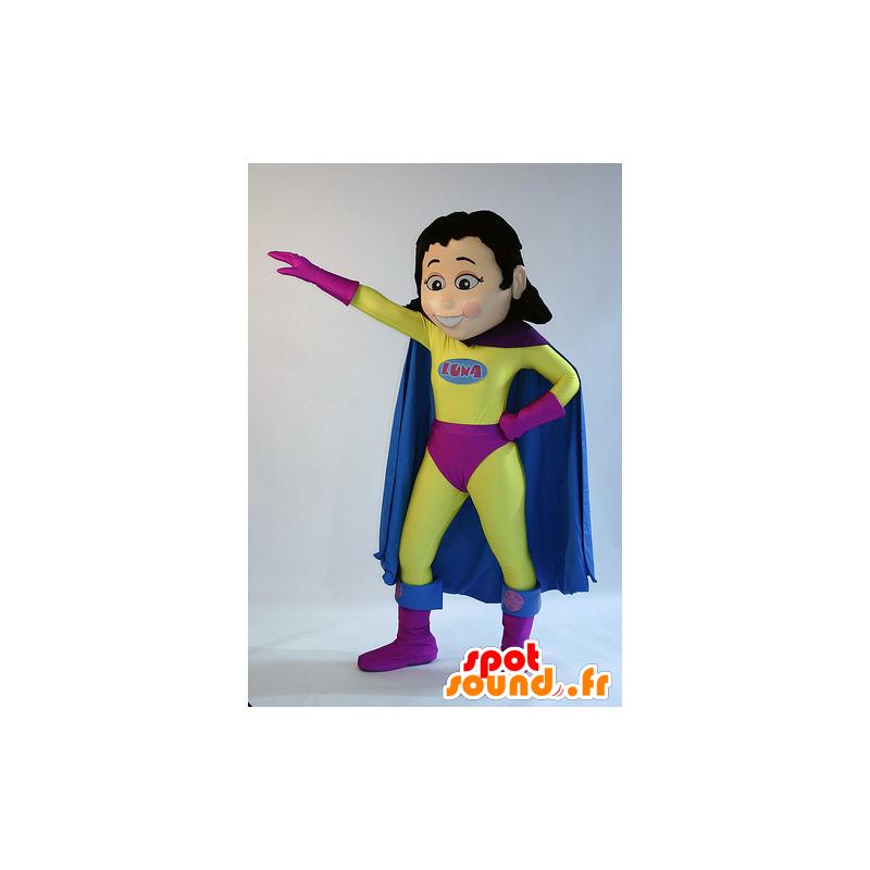 Vrouwelijke mascotte, superhero, superwoman - MASFR22290 - superheld mascotte