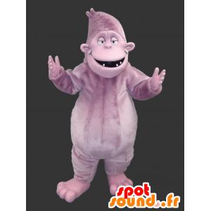 Gorilla Mascot mauve gekleurde yeti