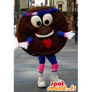 Kake maskot runde sjokolade, Oreo - MASFR22293 - Fast Food Maskoter