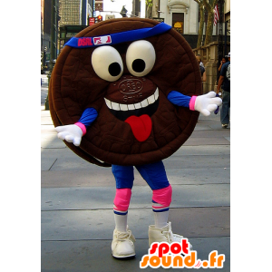 Kuchen Maskottchen Runde Schokolade, Oreo - MASFR22293 - Fast-Food-Maskottchen