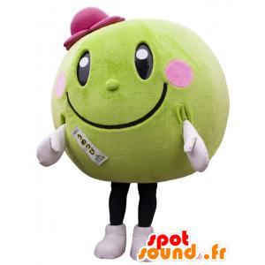 Runde und Mascotte grüne Melonen, Wassermelonen - MASFR22298 - Obst-Maskottchen