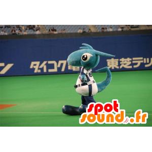 Blå drage maskot, dinosaur, fantastisk skabning - Spotsound