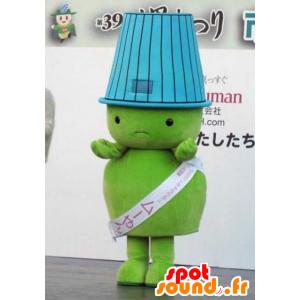 Mascotte grote groene kerel met een lampenkap op zijn hoofd - MASFR22311 - Niet-ingedeelde Mascottes