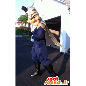 Supereroe mascotte, un cavaliere con un casco - MASFR22371 - Mascotte dei cavalieri