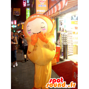 Jente maskot av gul dukke antrekk - MASFR22406 - Maskoter Child
