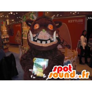 Brown Maskottchen Wildschwein Warzenschwein