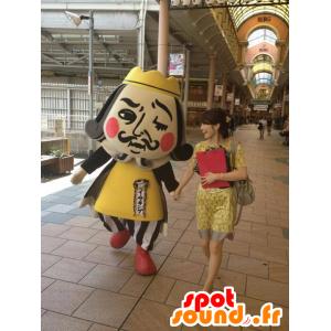 König Maskottchen, Kaiser Mann in gelb und schwarz-Outfit - MASFR22428 - Menschliche Maskottchen