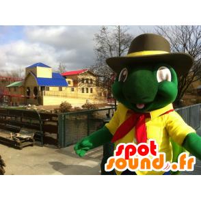 Groene schildpad mascotte en gele reus - MASFR22438 - Turtle Mascottes
