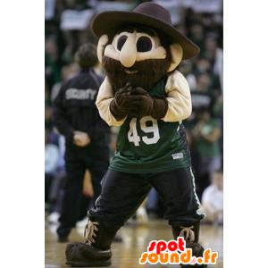 Maskottchen bärtiger Mann mit großem Hut u - MASFR22449 - Menschliche Maskottchen