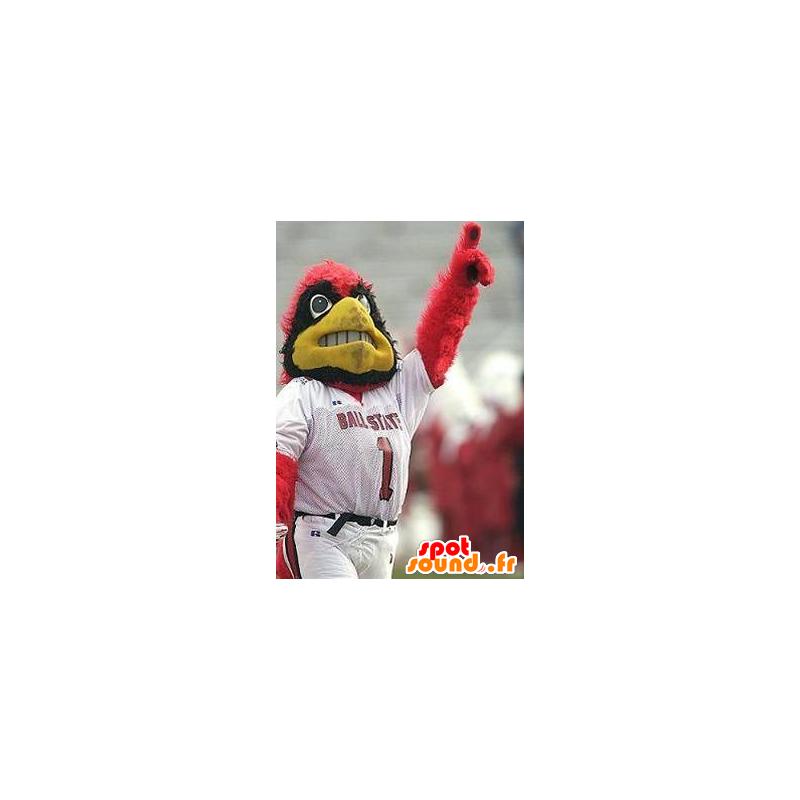 Mascot Eagle czerwony, czarny i żółty, sportowej - MASFR22468 - ptaki Mascot