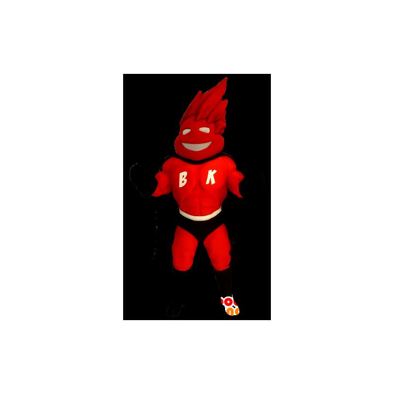 Superhrdina maskot v červeném a černém obleku - MASFR22469 - superhrdina maskot