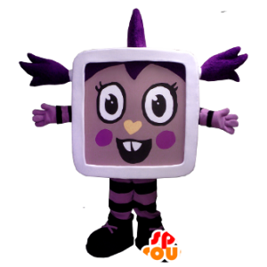 Jente maskot av TV, tablet - MASFR22477 - Maskoter Child
