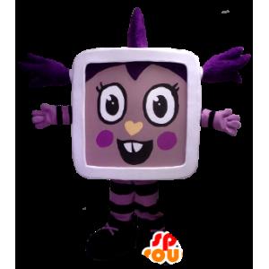Meisje mascotte van de TV, tablet - MASFR22477 - mascottes Child