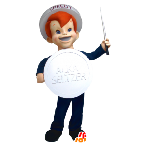 Mascot boy tuotemerkin Alka Seltzer