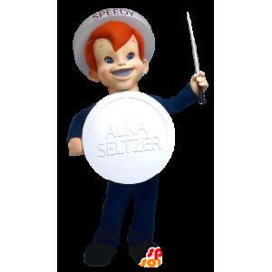 Mascot jongen merk Alka Seltzer