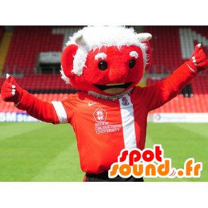 Mascot red devil with white hair - MASFR22486 - Missing animal mascots