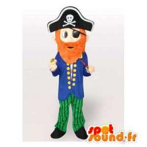 Piratkapten maskot. Piratdräkt - Spotsound maskot