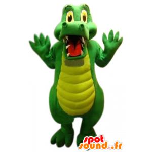 Coccodrillo verde mascotte, carino e divertente - MASFR22516 - Mascotte di coccodrilli