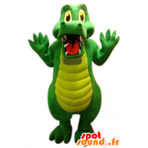 Grünes Krokodil Maskottchen, niedlich und lustig - MASFR22516 - Maskottchen der Krokodile