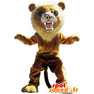 Brown lion mascot, ferocious tiger - MASFR22518 - Lion mascots