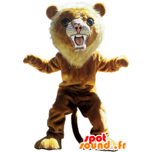Ruskea leijona maskotti, hurja tiikeri - MASFR22518 - Lion Maskotteja