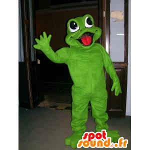 Mascot grünen Frosch, schön und fröhlich - MASFR22521 - Maskottchen-Frosch