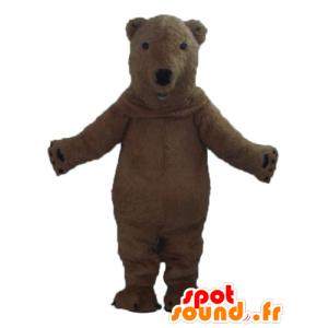 Medvěd hnědý maskot, krásný a realistický - MASFR22602 - Bear Mascot