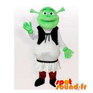 Shrek mascote, personagem de desenho animado famosa