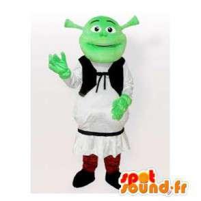 Shrek mascot, cartoon character famous - MASFR006509 - Mascots Shrek