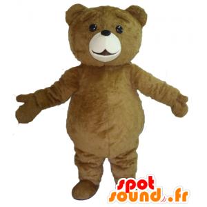 Stor brun björnmaskot, söt och fyllig - Spotsound maskot