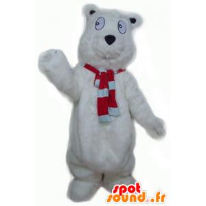 Engros maskot isbjørn, hårete og søt - MASFR22638 - bjørn Mascot