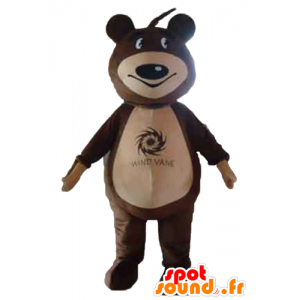 Mascot teddybjørn brun og beige - MASFR22651 - bjørn Mascot