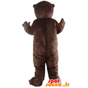 Groundhog maskot, brun bæver, gnaver - Spotsound maskot kostume