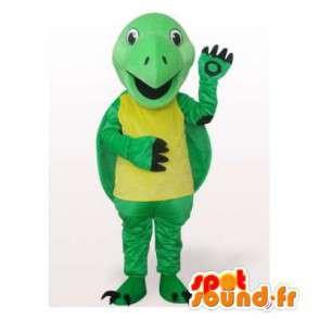 Mascotte gele en groene schildpad. Turtle Costume - MASFR006516 - Turtle Mascottes
