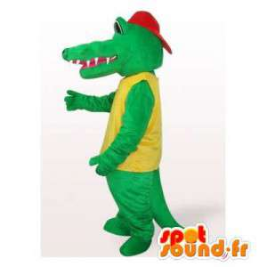 Crocodile mascot with a red cap
