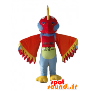 Mascot multicolored bird with feathers on the head - MASFR22694 - Mascot of birds