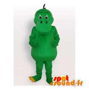 All green dragon mascot. Dinosaur Costume - MASFR006518 - Dragon mascot